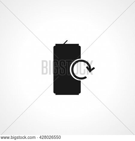 Soda Can Icon. Soda Can Simple Vector Icon. Soda Can Isolated Icon.
