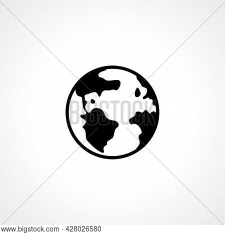 Earth Icon. Earth Simple Vector Icon. Earth Isolated Icon.