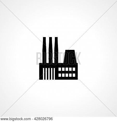 Factory Icon. Factory Simple Vector Icon. Factory Isolated Icon.