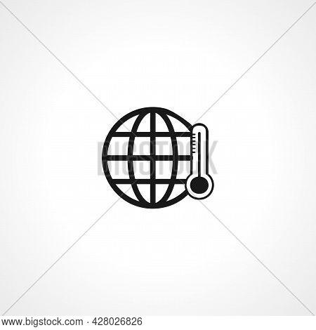 Global Warm Icon. Global Warm Simple Vector Icon. Global Warm Isolated Icon.