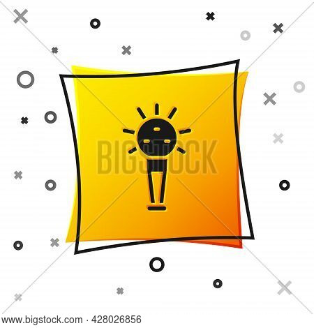 Black Mace, Symbol Of Ukrainian National Power Icon Isolated On White Background. Traditional Weapon