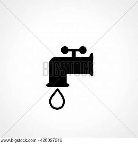 Water Tap Icon. Water Tap Simple Vector Icon. Water Tap Isolated Icon.