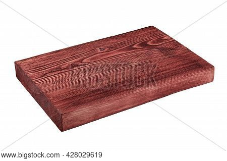 Red Board Lies Isolated On White.