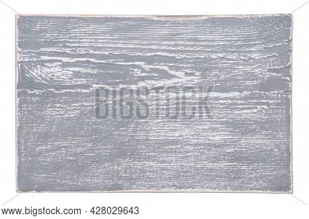 Top View: Gray Textured Board Isolated On White.