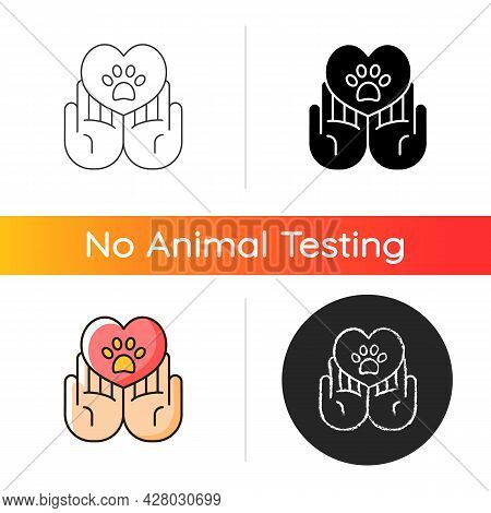 Animal Friendly Gradient Icon. Veterinary Care For Dogs And Cats. Pet Health And Protection. Cruelty
