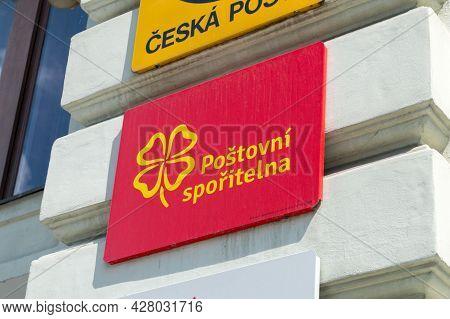 Liberec, Czech Republic - June 2, 2021: Logo Of Postal Savings Bank (czech: Postovni Sporitelna).