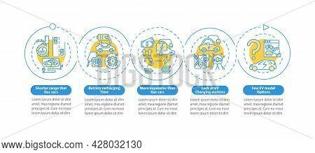 Ev Limitations Vector Infographic Template. Electric Vehicles Lacks Presentation Outline Design Elem