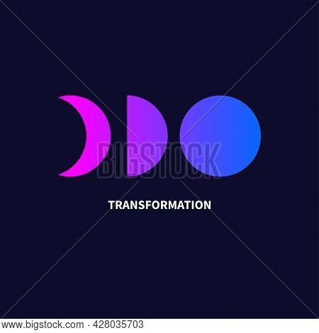 Change Icon. Transformation, Evolution Logo. Transform, Coaching Concept. Vector Illustration