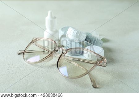 Concept Of Contact Lenses For Eyes, Health Care