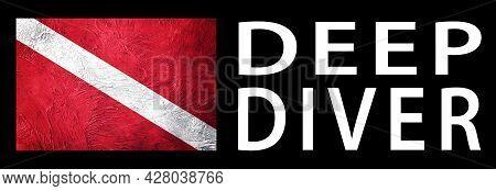 Deep Diver, Diver Down Flag, Scuba Flag, Scuba Diving