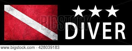 Three Star Diver, Diver Down Flag, Scuba Flag, Scuba Diving