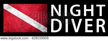 Night Diver, Diver Down Flag, Scuba Flag, Scuba Diving
