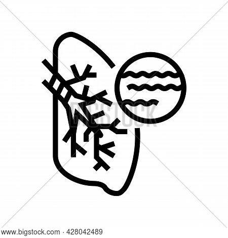 Bronchitis Disease Line Icon Vector. Bronchitis Disease Sign. Isolated Contour Symbol Black Illustra