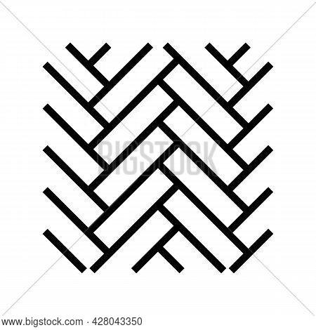Wood Flooring Parquet Line Icon Vector. Wood Flooring Parquet Sign. Isolated Contour Symbol Black Il