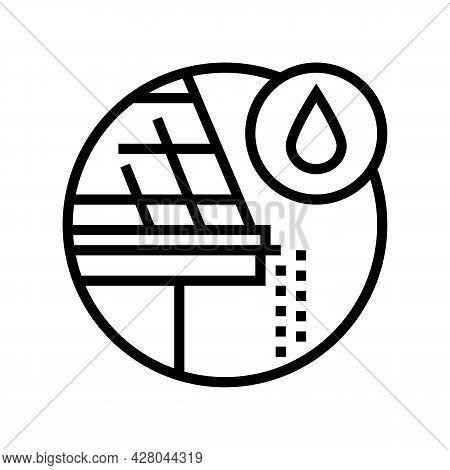 Drip Edge Line Icon Vector. Drip Edge Sign. Isolated Contour Symbol Black Illustration