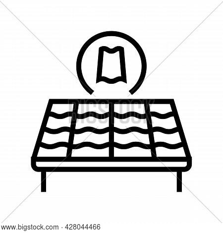 Slate Roof Line Icon Vector. Slate Roof Sign. Isolated Contour Symbol Black Illustration