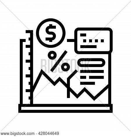 Economy School Lesson Line Icon Vector. Economy School Lesson Sign. Isolated Contour Symbol Black Il