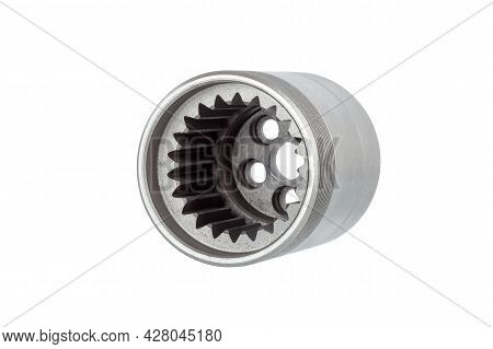 Iron Cup Replacement Part Of Polystyrol Machine Concrete Pump With External Thread And Internal Gear