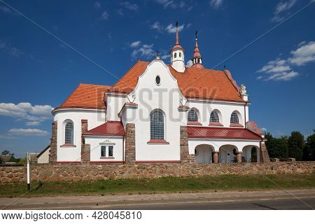 Old Ancient Church Of Our Lady Of The Rosary In Soly, Grodno Region.