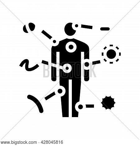 Autoimmune Disease Glyph Icon Vector. Autoimmune Disease Sign. Isolated Contour Symbol Black Illustr
