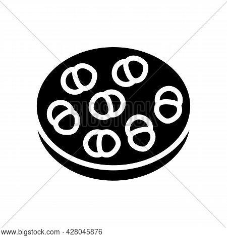 Enterococcus Infection Glyph Icon Vector. Enterococcus Infection Sign. Isolated Contour Symbol Black