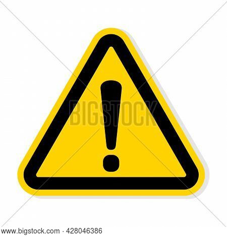 Yellow Warning Dangerous Attention Icon Vector, Danger Symbol, Filled Flat Sign, Solid Pictogram, Is