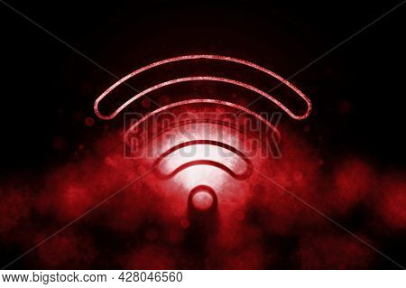 Wireless Internet Access,free Wifi Connection, Internet Technology, Networking Concept, Wifi Blue S