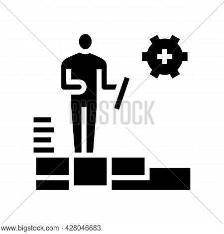 Master Tiler Glyph Icon Vector. Master Tiler Sign. Isolated Contour Symbol Black Illustration