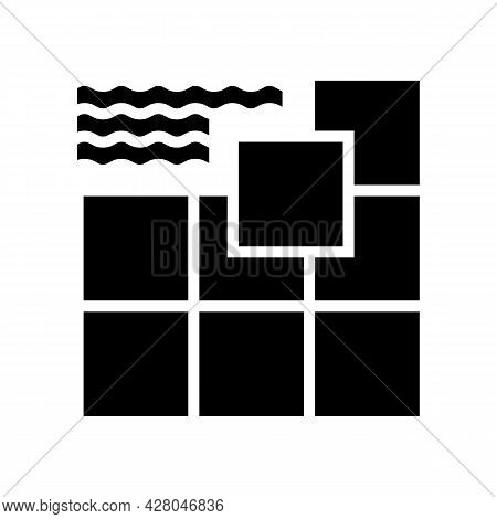 Ceramic Tile Glyph Icon Vector. Ceramic Tile Sign. Isolated Contour Symbol Black Illustration
