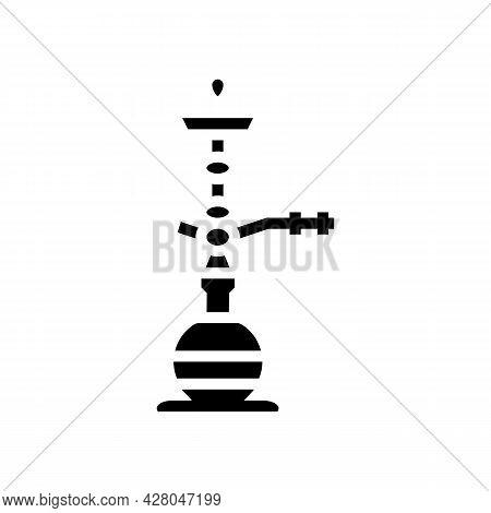 Egyptian Hookah Glyph Icon Vector. Egyptian Hookah Sign. Isolated Contour Symbol Black Illustration