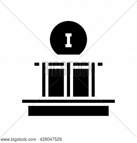 First Stage Of Roof Construction Glyph Icon Vector. First Stage Of Roof Construction Sign. Isolated