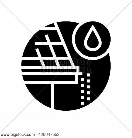 Drip Edge Glyph Icon Vector. Drip Edge Sign. Isolated Contour Symbol Black Illustration