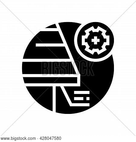 Soffit Roof Glyph Icon Vector. Soffit Roof Sign. Isolated Contour Symbol Black Illustration