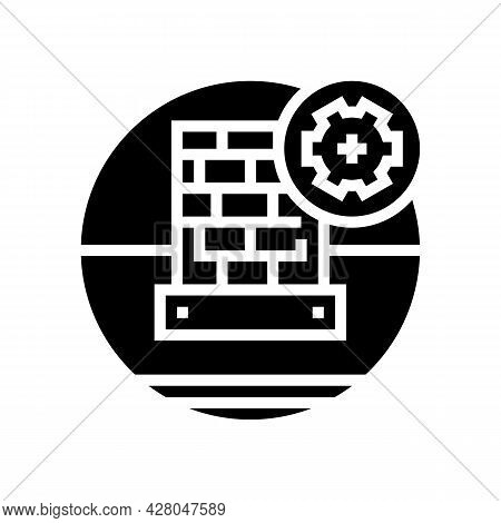 Lead Flashing On Roof Glyph Icon Vector. Lead Flashing On Roof Sign. Isolated Contour Symbol Black I
