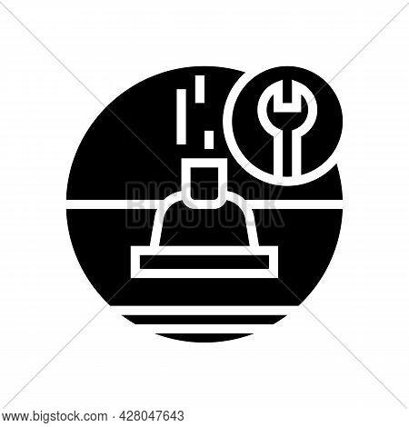 Roof Ventilation Glyph Icon Vector. Roof Ventilation Sign. Isolated Contour Symbol Black Illustratio