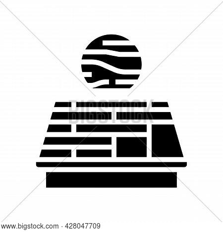 Wooden Roof Glyph Icon Vector. Wooden Roof Sign. Isolated Contour Symbol Black Illustration