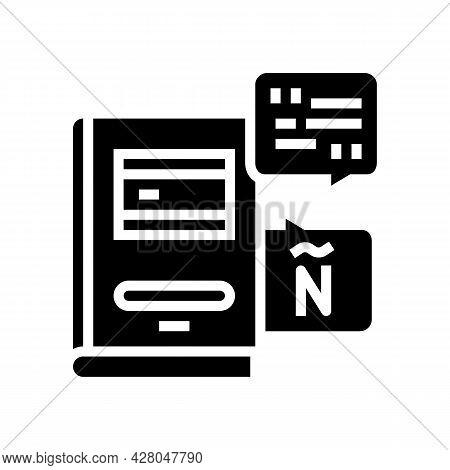 Spanish Language School Lesson Glyph Icon Vector. Spanish Language School Lesson Sign. Isolated Cont