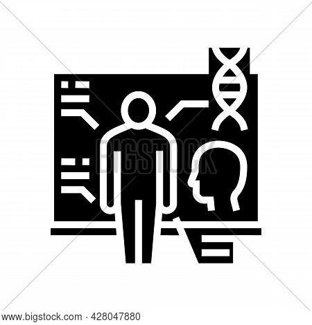 Anatomy School Subject Glyph Icon Vector. Anatomy School Subject Sign. Isolated Contour Symbol Black