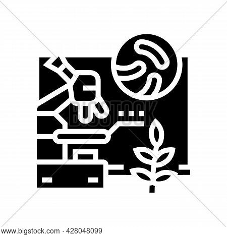 Biology School Lesson Glyph Icon Vector. Biology School Lesson Sign. Isolated Contour Symbol Black I