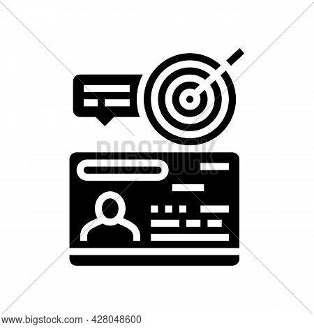 Startup Visa Glyph Icon Vector. Startup Visa Sign. Isolated Contour Symbol Black Illustration