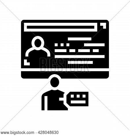 Gender Visa Glyph Icon Vector. Gender Visa Sign. Isolated Contour Symbol Black Illustration