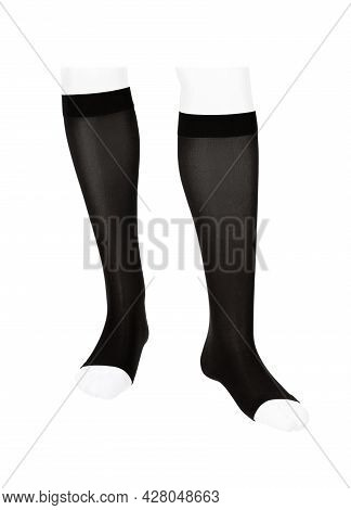 Closed Toe Linear Calves. Compression Hosiery. Medical Stockings, Tights, Socks, Calves And Sleeves