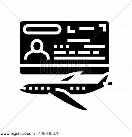 Transit Visa Glyph Icon Vector. Transit Visa Sign. Isolated Contour Symbol Black Illustration