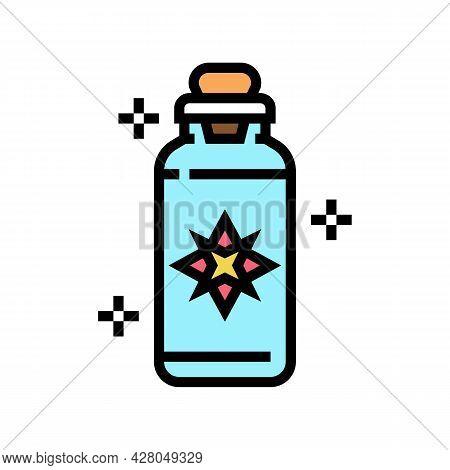 Potion Boho Color Icon Vector. Potion Boho Sign. Isolated Symbol Illustration