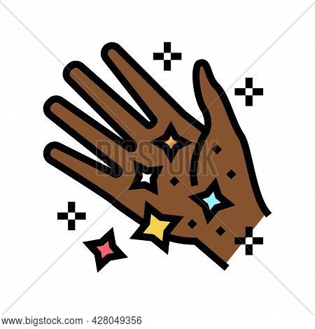 Hand Boho Color Icon Vector. Hand Boho Sign. Isolated Symbol Illustration