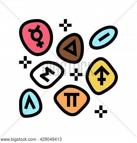 Stones Boho Color Icon Vector. Stones Boho Sign. Isolated Symbol Illustration