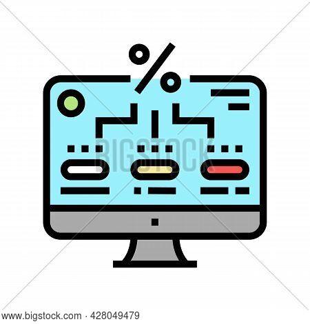 Interest Accrual On Current Account Balances Color Icon Vector. Interest Accrual On Current Account