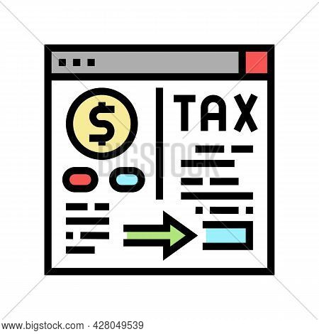 Payment Of Taxes And Fees Color Icon Vector. Payment Of Taxes And Fees Sign. Isolated Symbol Illustr