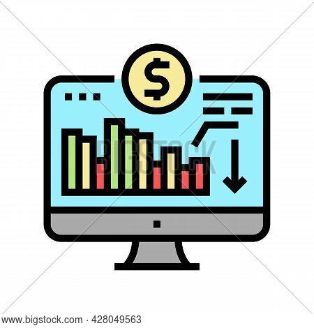 Maintaining Minimum Required Account Balance Color Icon Vector. Maintaining Minimum Required Account