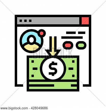 Cash Withdrawal Color Icon Vector. Cash Withdrawal Sign. Isolated Symbol Illustration